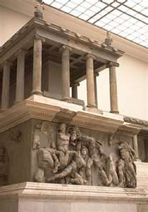 Gigantomachy frieze on altar